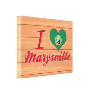Amo Marysville, Washington Lienzo Envuelto Para Galerias