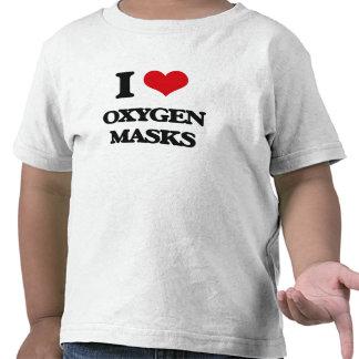 Amo máscaras de oxígeno camiseta
