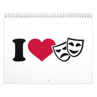 Amo máscaras del teatro calendario