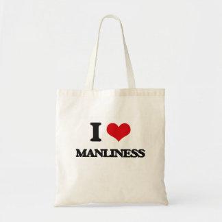 Amo masculinidad bolsa lienzo
