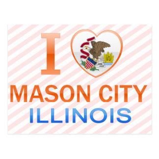 Amo Mason City, IL Tarjetas Postales