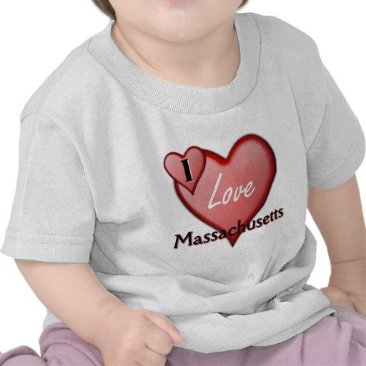 Amo Massachusetts Camisetas