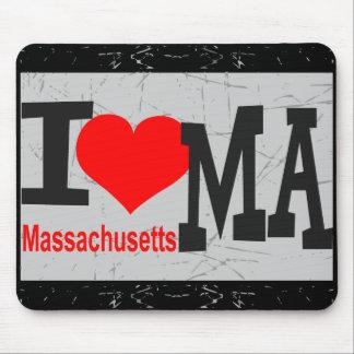 Amo Massachusetts    - cojín de ratón Alfombrillas De Ratón