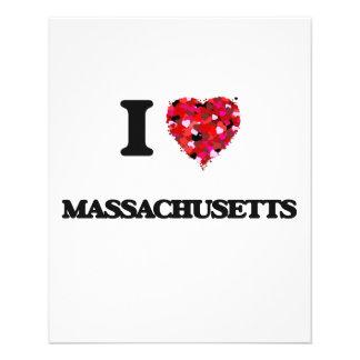 "Amo Massachusetts Folleto 4.5"" X 5.6"""