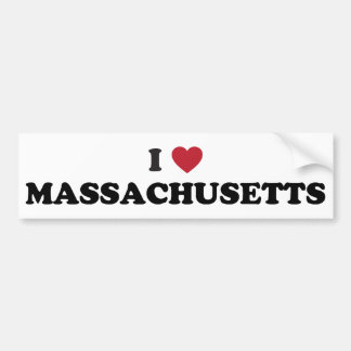 Amo Massachusetts Pegatina Para Auto