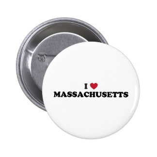 Amo Massachusetts Pin Redondo De 2 Pulgadas