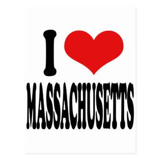 Amo Massachusetts Tarjeta Postal