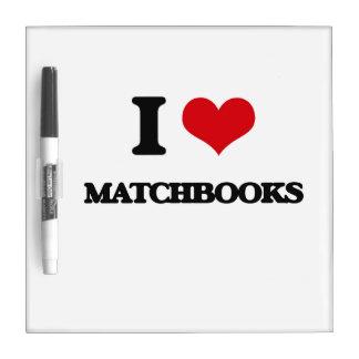 Amo Matchbooks Pizarras Blancas