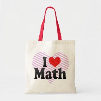Amo matemáticas bolsa