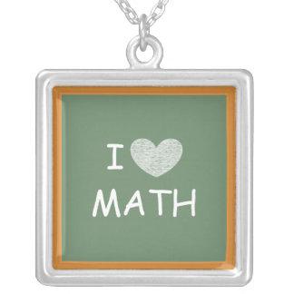 Amo matemáticas colgante cuadrado