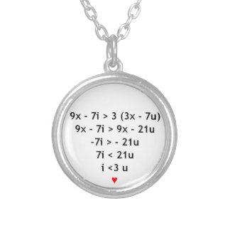¡Amo matemáticas! Colgante Redondo