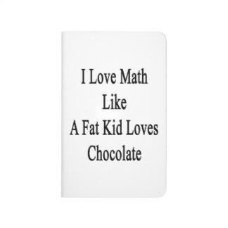 Amo matemáticas como un chocolate de los amores cuadernos