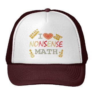 Amo matemáticas del absurdo gorras