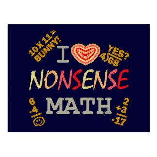 Amo matemáticas del absurdo postales
