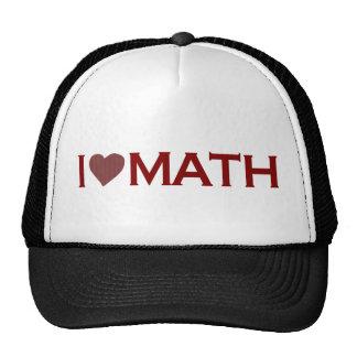 Amo matemáticas gorros
