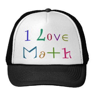 Amo matemáticas gorro