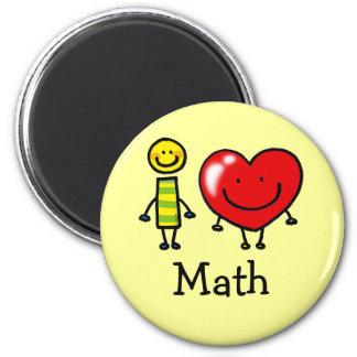 amo matemáticas iman de nevera