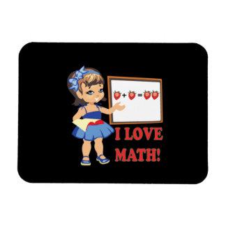 Amo matemáticas imanes de vinilo