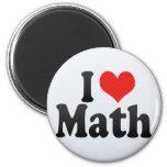 Amo matemáticas imán de nevera