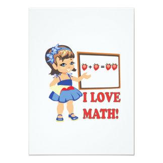 "Amo matemáticas invitación 5"" x 7"""