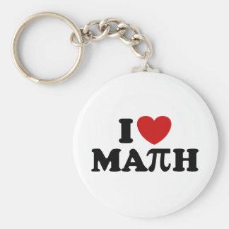 Amo matemáticas llaveros