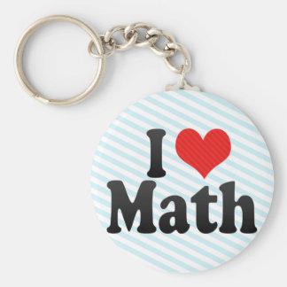 Amo matemáticas llavero personalizado