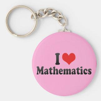 Amo matemáticas llaveros personalizados