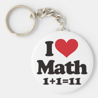 ¡Amo matemáticas! Llavero Redondo Tipo Pin