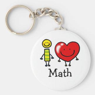 amo matemáticas llavero redondo tipo pin