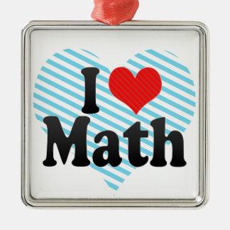 Amo matemáticas ornaments para arbol de navidad