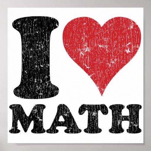 Amo matemáticas impresiones