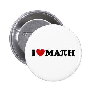Amo matemáticas pin redondo 5 cm