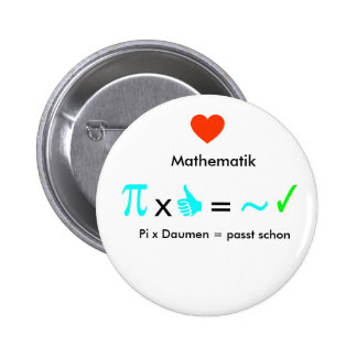 Amo matemáticas pin redondo de 2 pulgadas