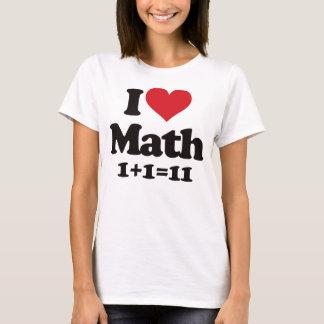 ¡Amo matemáticas! Playera