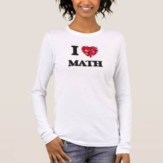 Amo matemáticas playera de manga larga