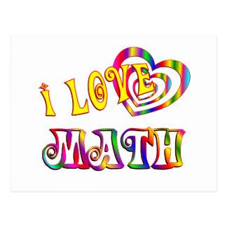 Amo matemáticas postal