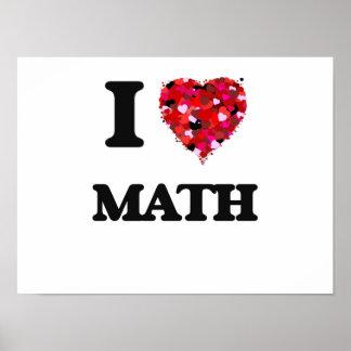 Amo matemáticas póster