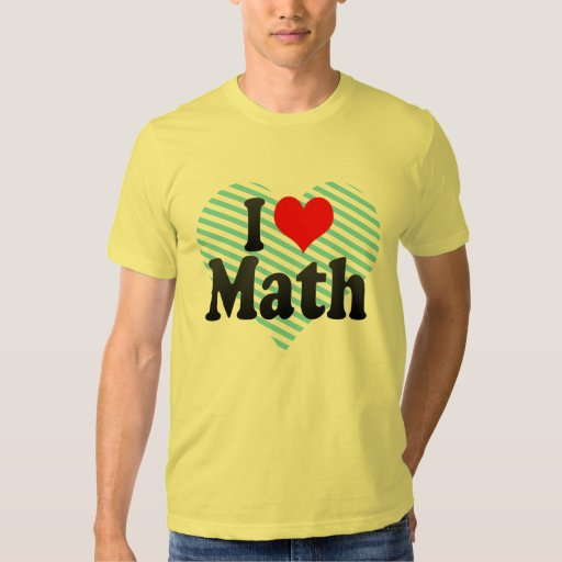Amo matemáticas remera