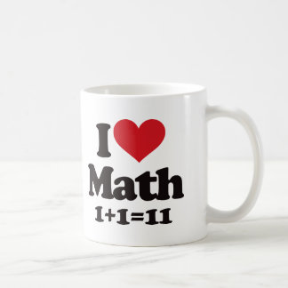 ¡Amo matemáticas! Taza