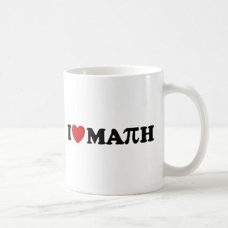 Amo matemáticas taza básica blanca