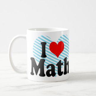 Amo matemáticas taza