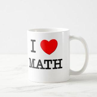 Amo matemáticas taza de café