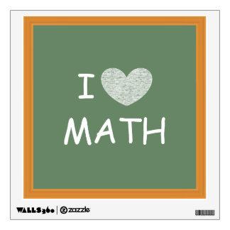 Amo matemáticas vinilo adhesivo