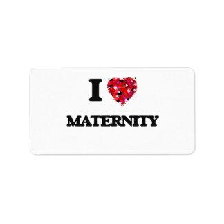 Amo maternidad etiqueta de dirección
