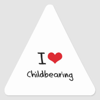 Amo maternidad pegatina triangular