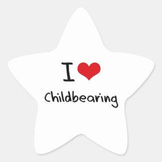 Amo maternidad pegatina en forma de estrella