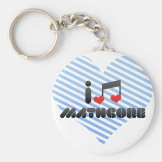 Amo Mathcore Llaveros Personalizados