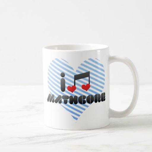 Amo Mathcore Taza Básica Blanca