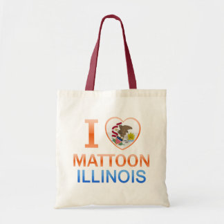 Amo Mattoon, IL Bolsa Tela Barata