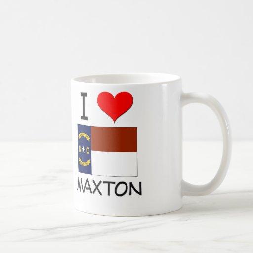 Amo Maxton Carolina del Norte Tazas De Café